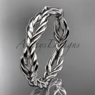 Platinum  twisted rope wedding band RP8117G