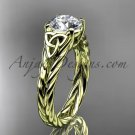 14kt yellow gold celtic rope engagement ring RPCT9108