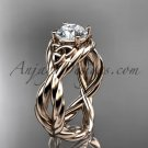 14kt rose gold celtic rope engagement ring RPCT9181