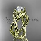 14kt yellow gold rope celtic forever one moissanite engagement ring RPCT9181