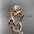 14kt rose gold rope celtic forever one moissanite engagement ring RPCT9181