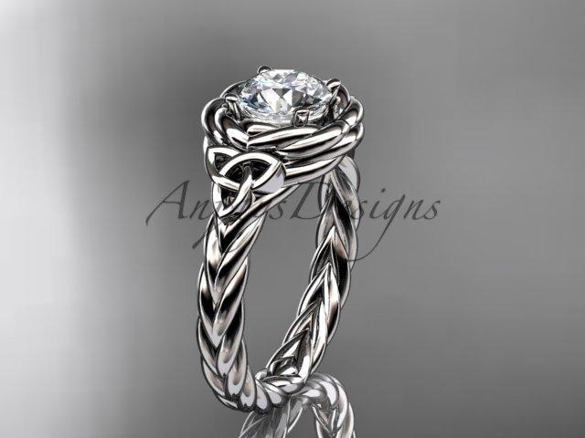 Platinum celtic nautical engagement ring RPCT9201