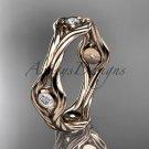 14k rose gold rope diamond wedding band RP8358B