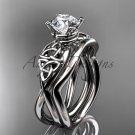 Platinum celtic trinity knot engagement set CT770S