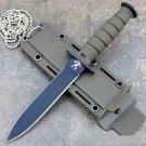 "GREEN 6"" MINI SURVIVAL KNIFE  Sku : 6038"