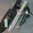 "10.5"" STAINLESS STEEL BLADE SURVIVAL KNIVE WITH SHEATH HEAVY DUTY Sku : 5821"