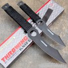 "SET OF 2 BLACK 8.5"" & 6.5""  KNIVES WITH SHEATH Sku : 5325"
