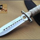 "8"" SILVER SURVIVAL KNIFE WITH SURVIVAL KIT & SHEATH Sku : 6430"