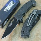 "7.5"" MINI FOLDING  KNIFE BLACK HANDLE WITH CLIP Sku : 6452"