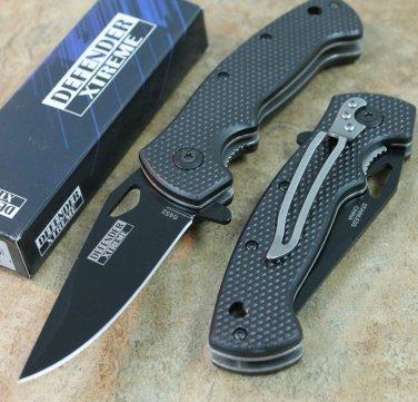 "7.5"" MINI FOLDING  KNIFE BLACK HANDLE WITH CLIP Sku : 6452"