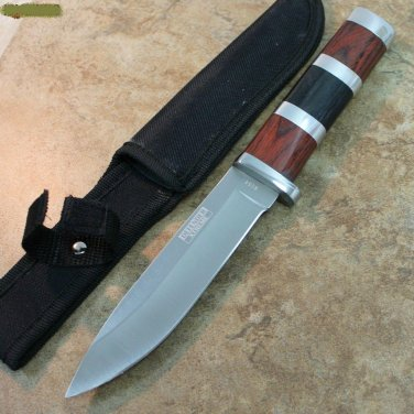 "10"" Defender Xtreme Hunting Knife Stainless Steel Blade with Wood Handle   SKU:8154"