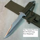 "11.5"" FULL TANG GREEN HANDLE HUNTING KNIFE WITH GREEN SHEATH Sku : 6404"