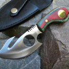 "7"" Skinner Knife Multi-Color Handle With Sheath SKU:5636"