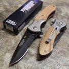 """8"""" Carbon Steel Wood Handle Knife SKU:5244"""