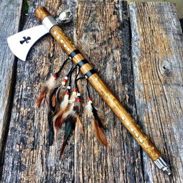 """19"""" Cross Shape Indian Axe Feather SKU:5570 Code-Helen Mckinzie"""
