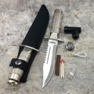 "8.5"" Heavy Duty Silver Mini Survival Knife with Sheath SKU:9089"