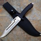 "10.5"" Hunting Knife Black Handle and Black Sheath SKU:6418"