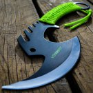 "11.5"" ZOMB-WAR TACTICAL AXE STAINLESS STEEL GREEN Sku : 8124"
