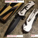"Gray 8"" Heavy Duty Folding  Knife w/ Gun Design SKU:5980"