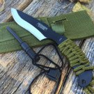 "7"" Hunting Knife Black Tactical Carbon Steel Blade SKU:5734"