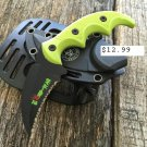 "5.75"" Zomb-War Green Boot Skinner Knife with Sheath SKU:8176"