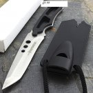 "6.5"" Full Tang Hunting Knife Stainless Steel Whistle Sheath SKU:1793"