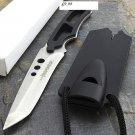"6.5"" Full Tang Hunting Knife Stainless Steel Whistle Sheath SKU:1793"