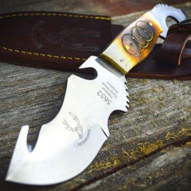 """8.5"""" Skinner Knife Bone Handle Hunting Knife Stainless Steel SKU:5652"""