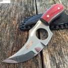 """6"""" Defender Xtreme Skinner Knife with Multi-Color Handle and Leather Sheath SKU:9394"""