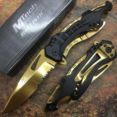 """MTech 8.25"""" Stainless Steel  Golden & Black Aluminum Handle SKU:MT-A705BG"""