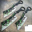 "3PC 8"" ZOMBIE THROWING KNIVES Ninja Tactical Combat Naruto Kunai Set w/ Sheath Code-Keke Cooper"