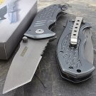 "7.5"" BULLET  TACTICAL TANTO FOLDING KNIFE Pocket Open Assist Grey unlimitedwares"