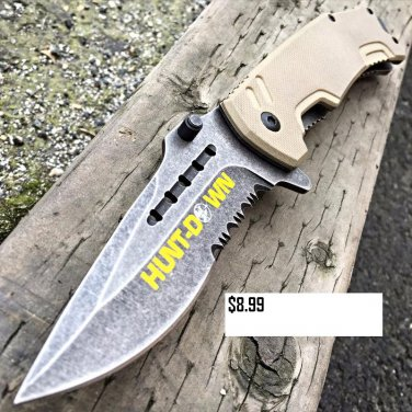 "8"" NEW CAMPING Military Tactical Spring Assisted Open Pocket Combat Knife"