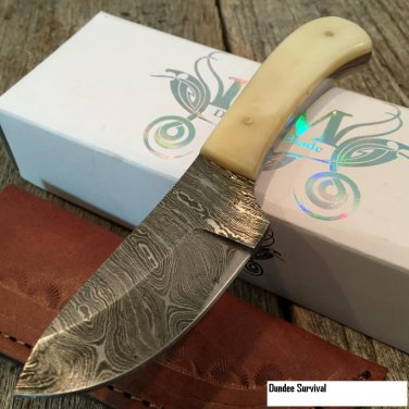 "6"" HAND MADE REAL D STEEL SKINNER HUNTING KNIFE Code-Helen Mckinzie"