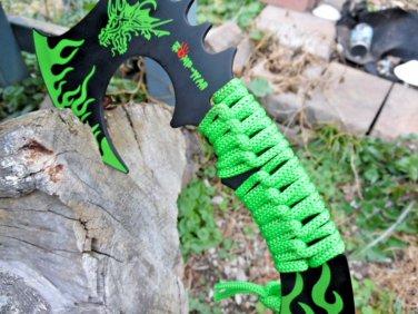 """Zomb-War 11"""" Green Dragon Axe Code-Helen Mckinzie"""