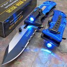 TAC-FORCE Blue POLICE Spring Assisted Code-Reco Peco