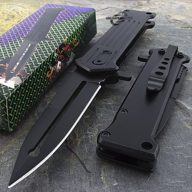 "8"" SPRING ASSISTED FOLDING STILETTO TACTICAL KNIFECode-Reco Peco"
