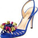 KATE SPADE Colby Strappy Evening Sandal Cobalt Satin US Size 9.5M