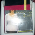 Kenneth Cole Reaction 2 Long Sleeve Scoop Neck T-Shirts Size Large Pink + Black