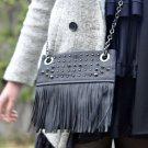 Danielle Nicole Fringe Crossbody Purse Chain Bag Women's Handbag NWT