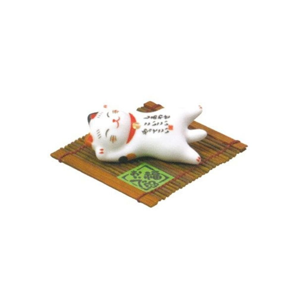 "Beckoning Cat , Bood luck Cat Chopstick Rest ""Satiety ""from Japan NEW"