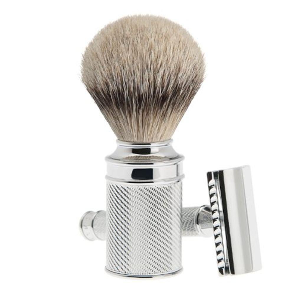 Muhle Classic Shaving set metal Double-edged razor and brush stand S099M89SR NEW