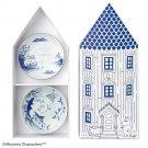 Moomin Amabro SOMETSUKE 5set Arita Plate Porcelain from Japan NEW