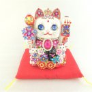 Beckoning Cat Princess, Good Luck Cat Gorgeous Jewelry Cat from Japan NEW