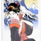 "Ukiyoe Wonder Towel Washcloth, Tenugui ""Namiura beauty"" Maiko Geisha Japan NEW"