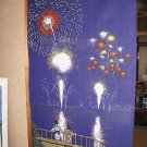 NOREN HANABI Fireworks Japanese Traditional, Curtain, Partition NEW