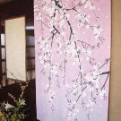 Noren Hang Down; Cherry Tree Japanese Traditional, Curtain, Partition NEW