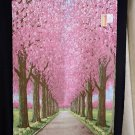NOREN Row of Cherry Blossom Trees , Japanese Traditional Door way 85 x 170cm NEW