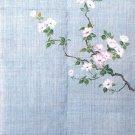 """Hand Drawing NOREN"""" Hanamizuki """" Japanese Traditional Curtain, Doorway"""