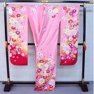 NEW Kyoto High Class Furisode Kimono Set  Pure Silk Pink Regular M for Women`s